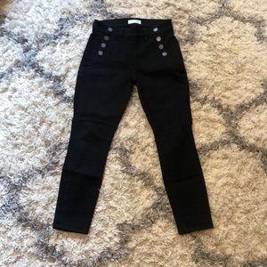 Loft black jeans, size 2 petite